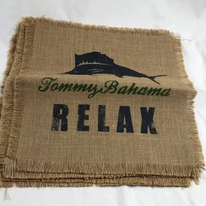 Tommy Bahama RELAX burlap placemats